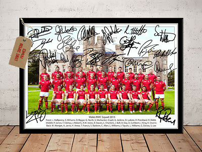 Sam Warburton Wales Rugby Squad Rwc 2015 Autographed Signed Photo Print
