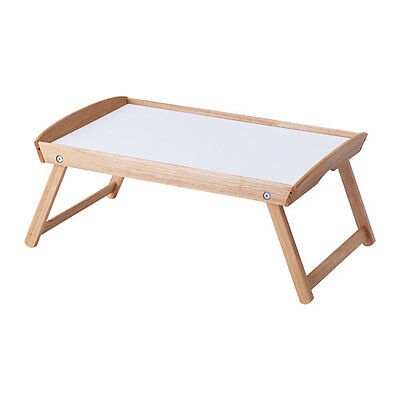 IKEA DJURA Rubberwood Breakfast Food Tea Serving Serve Bed Tray Wooden Table