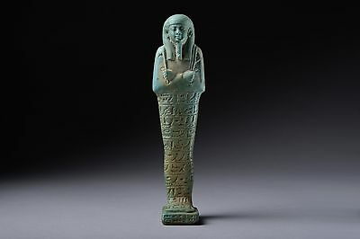 Ancient Egyptian Faience Shabti Figure for Tjanehebu - 570 BC