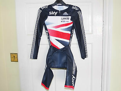 Adidas SKY Team LS Skinsuit --- GB OFFICIAL Authentic cycling bike padded shorts