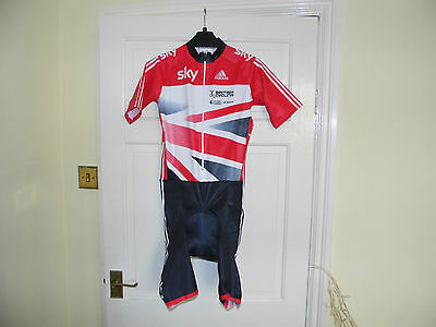 SKY Adidas Team SS Skinsuit --- GB OFFICIAL Authentic cycling bike padded shorts