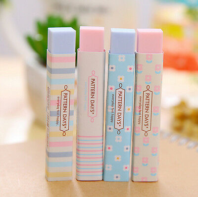 Stripe Candy Color Eraser School Supplies Stationery Rubber