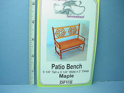 Dollhouse Miniature Patio Bench Kit Maple Df115 Dragonfly Int L 1