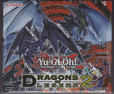 Yu-Gi-Oh Dragons of Legend 2 sealed 1st Edition Box 24 packs of 5 cards