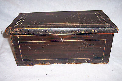 Small Antique Music Cylinder Music Box , Box Only For Restoration