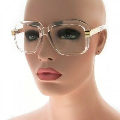 Clear Sunglasses Women  oversize big large round frame clear lens glasses men women black