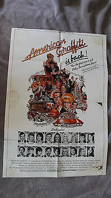 American Graffiti is Back Lucas Coppola Ford 1978 Re-release One Sheet Poster G