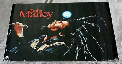 Bob Marley Pray 1992 Live Microphone Concert Funky Music Poster #3345 VG