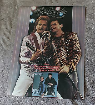 Air Supply 1985 Self Titled Debut Russell Hitchcock Graham PROMO Poster VGEX C7
