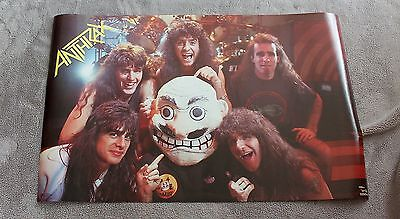 Anthrax 1988 Scott Ian Charlie Benante Frank Bello Funky Poster #3221 EX