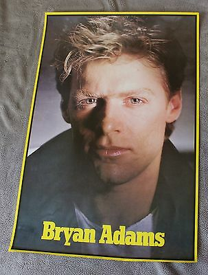 Bryan Adams 1980s Canada Lithographed First Productions Music PROMO Poster VG+