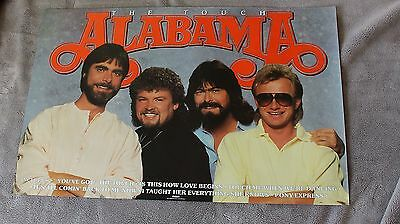 Alabama 1986 Touch Randy Owen Jeff Cook Teddy Gentry RCA RARE PROMO Poster VGEX