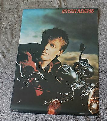 Bryan Adams 1985 Canadian Rock Motorcycle Nice Man Music Poster #A87 VGEX