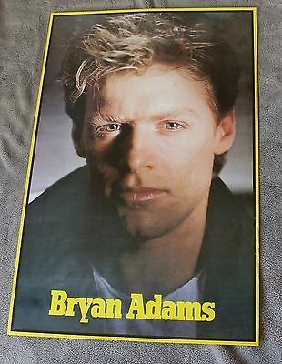 BRYAN ADAMS Close Up 1980s RARE Canada First Productions Music Poster VG C6