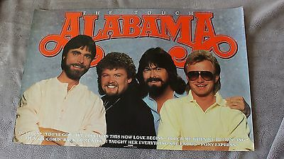 Alabama 1986 Touch Randy Owen Jeff Cook Teddy Gentry RCA RARE PROMO Poster VG