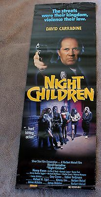 Abduction 1989 Night Children Horror 2 Sided David Carradine Video Poster GVG