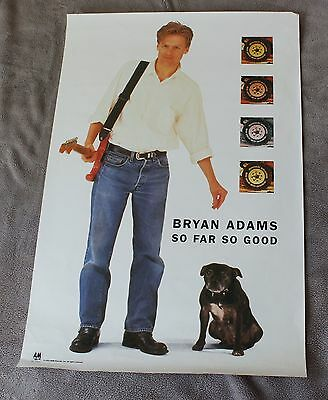 Bryan Adams 1993 So Far So Good Rock A&M Records RARE Music PROMO Poster VG