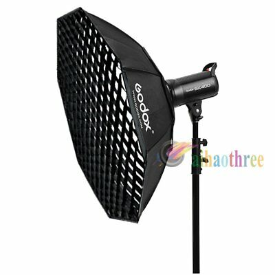 Godox 120cm Octagon Bowens Mount Softbox With Grid For Studio Strobe Flash Light