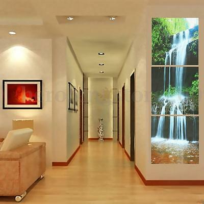 3 Panel HD Unframed Canvas Waterfall Print Modern Home Decor Wall Art Picture