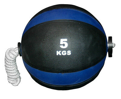 CoreX Fitness Weightlifting Training Rope Medicine Ball - 5KG