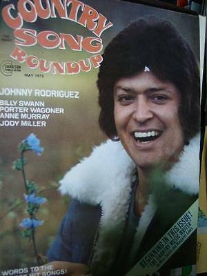 Country Song Roundup Magazine May 1975, Johnny Rodriguez, Billy Swann, Porter Wa