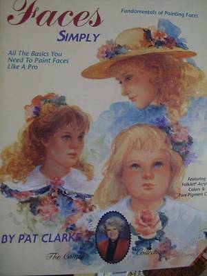 Sweet Faces Simply Painting Book By Pat Clarke, Paperback, 1992