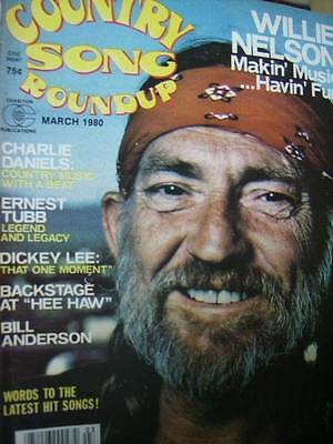 Country Song Roundup Magazine March 1980 Willie Nelson, Charlie Daniels, Ernest