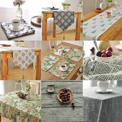 Cotton Clean Oilproof  Floral Tablecloth Dining Kitchen Square Table Home Decor