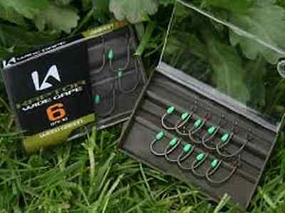 10 x KORDA KAPTOR WIDE GAPE BARBED WEED SIZE 6 HOOKS FOR CARP FISHING