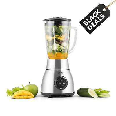 Standmixer Glas Smoothie Maker Blender Ice Crusher Milchshaker 1,8L 1200W Silber