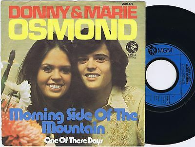 DONNY & MARIE OSMOND Morning Side of The Mountain German 45PS 1974