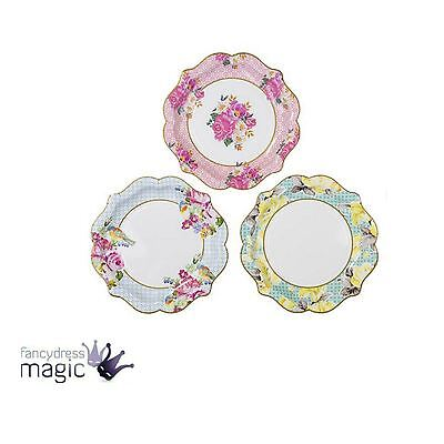 Talking Tables Truly Scrumptious Pretty Floral Medium Paper Serving Party Plates