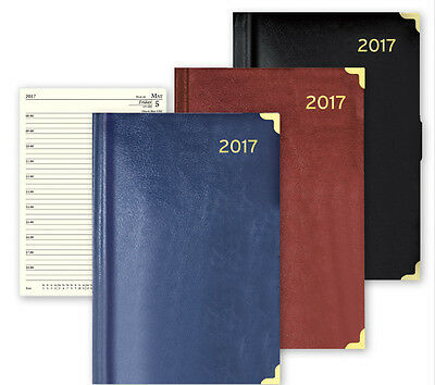 2017 Diary A4/A5/A6 Day to Page or Week to View Desk Diary Premium Padded