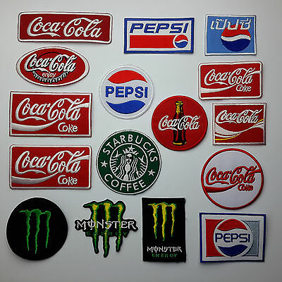 COKE, PEPSI, STARBUCKS & MORE - Iron-on Patch Collection - Over 40 Patches!