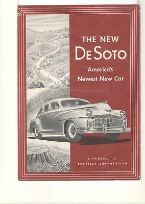 The New Desoto, America's Newest New Car       Literature   8 Pages