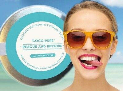 Coco Pure™ Whitening Tooth Powder Activated Coconut Charcoal MADE IN THE UK 50ml