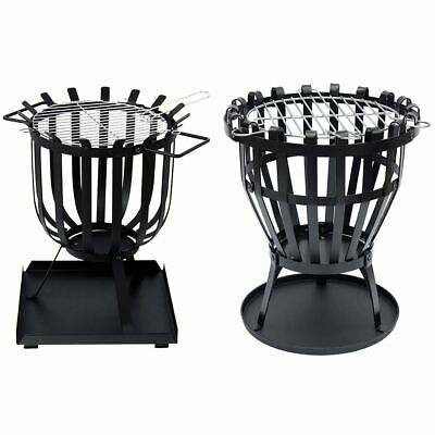 Steel Brazier Fire Pit Basket Garden Patio Heater BBQ Grill New By Home Discount