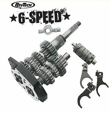 RevTech 6-Speed Overdrive Gear Set With Trapdoor & Bearings Harley Touring 93-98