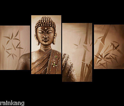 Modern Abstract Wall Decor Huge Oil Painting On Canvas Buddha Face(No Frame)