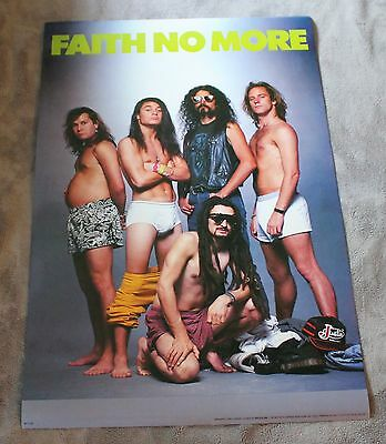 FAITH NO MORE From out of Nowhere 1989 Underwear Mike Bordin Patton Poster EX