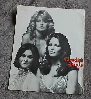 Charlies Angels 1978 Farrah Fawcett Kate Jackson Jaclyn Smith B&W TV Poster GVG