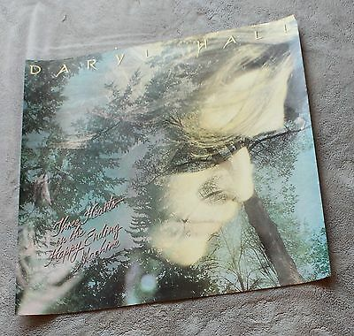Daryl Hall Three Hearts in the Ending Machine 1986 RCA Records PROMO Poster VG