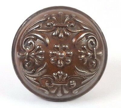 ~~~ Collectible Antique F219 Vinca Reading Doorknob 1900 Door Knob Hardware Iron