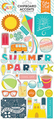 Echo Park Summer Party Collection Chipboard Stickers 2016
