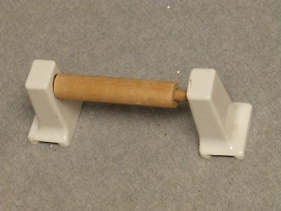 Vintage White Porcelain Toilet Paper Holder Old Bathroom Fixture 734-16