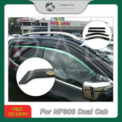 Premium Weathershield Weather Shields Window Visors for Nissan NP300 NEW