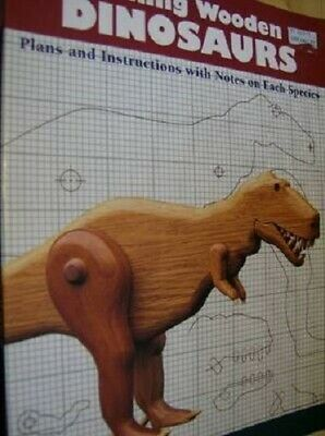 Making Wooden Dinosaurs Craft Book By Pougher- T Rex, Stegosaurus &