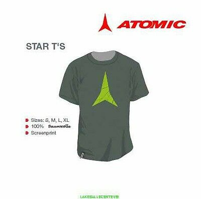 ATOMIC SKI STAR T-Shirt Limited Edition grey/green tshirt M L XL Men