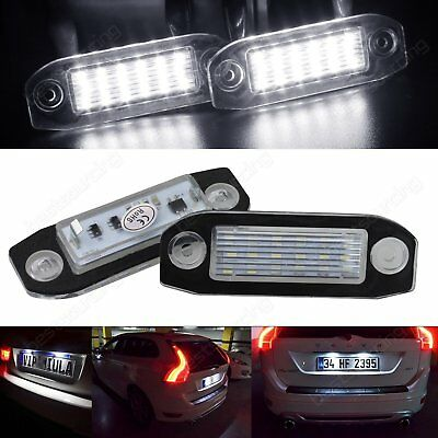 2X Volvo LED License Number Plate Light Lamp Error Free C70 S40 S60 S80 V60 V70
