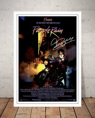 Prince Purple Rain 1984 Film Movie Poster Signed Photo